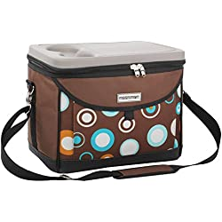 anndora Kühltasche Picknicktasche 22 L Kühlkorb Isotasche Kühlbox Braun Blau