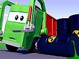 Das Müllauto und Streifenwagen Feuerwehrauto und Polizeiauto