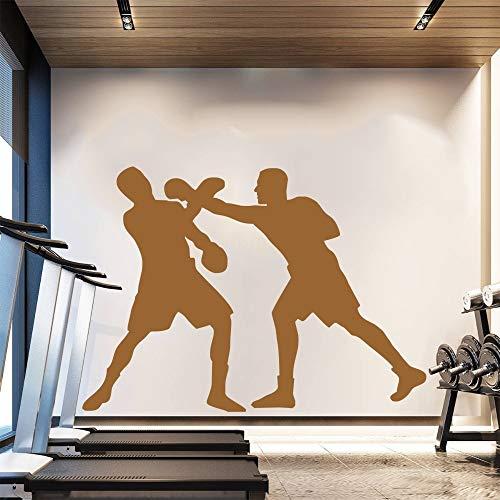 Jiuyaomai Venta de Dos Boxeadores Silueta de Boxeo Mural de Pared Decoración de Arte para el hogar...