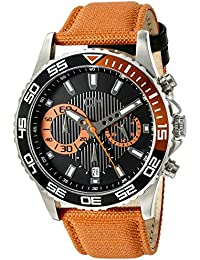 Carlo Monti Herren-Armbanduhr XL Avellino Chronograph Quarz Textil CM509-124A