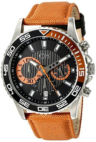 Carlo Monti CM509-124A - Reloj cronógrafo de cuarzo para hombre con correa de tela, color naranja