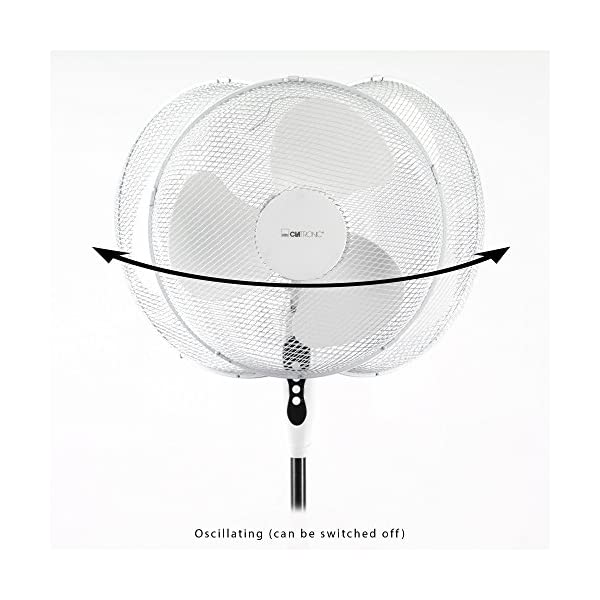 Clatronic-VL-3603-S-Ventilador-de-pie-oscilante-3-velocidades-altura-ajustable-40-cm-45-W-color-blanco