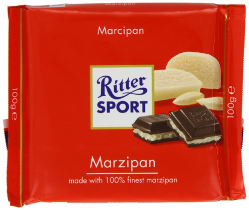 Ritter Sport Marzipan Chocolate Bar 100 g (Pack of 5) (Ritter Sport Marzipan)