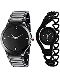 Talgo New Arrival Special Collection IIK Big Black Colour Round Dial Black Metal Strap And Kadi Black Round Dial...