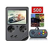 Anbernic Handheld-Spielekonsole, Retro FC Spielekonsole, Videospielekonsole mit 3Zoll 8Bit 500 Klassikern (Black)