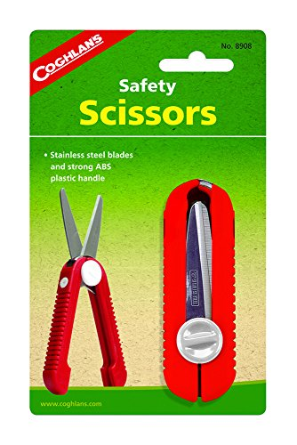 51cuiplccrL - Coghlan's Safety Scissors - Red