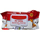 """Pet Needs Wet Pet Wipes For Dogs, Puppies & Pets - Apple Scent 6""""x 8"""" - Pack Of 100 Wipes"""