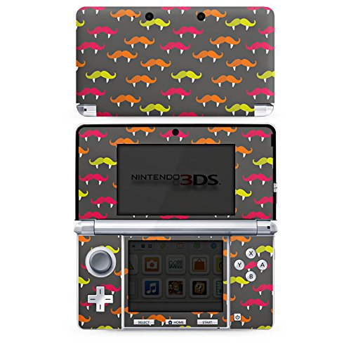 Nintendo 3 DS Case Skin Sticker aus Vinyl-Folie Aufkleber Schnurrbart Vampir Hipster