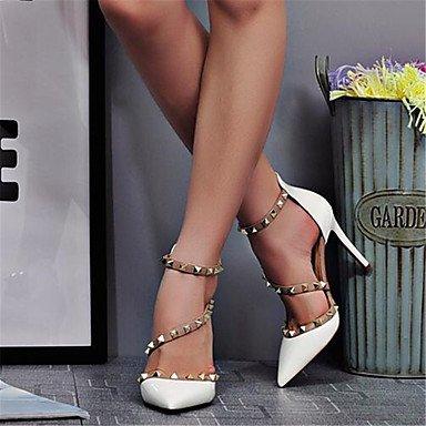 Zormey Frauen Heels Komfort Im Sommer Pu Casual Stiletto Heel Rot Schwarz Weiss US4-4.5 / EU34 / UK2-2.5 / CN33