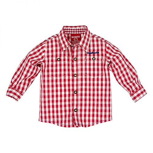 BONDI Karohemd, karo rot/weiss 98 Tracht Baby Jungs Artikel-Nr.90865