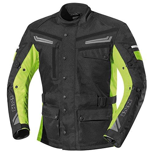 #IXS EVANS Motorradjacke Herren Textil all season – schwarz gelb Größe 2XL#