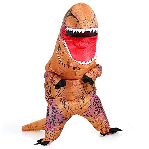 VAMEI Dinosaur Costume Gonflable T-Rex Gonfiabile Enfants Dinosaure Déguisement Halloween Costume Drôle Fête Tenue Avec Cordon Cadeau Sac