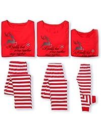 Conjunto de Pijamas para Toda la Familia con Estampado navideño de Traje de Padres e Hijos