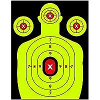 JQIWM 12 * 18 Pulgadas Adhesivo Stick & Salpicaduras Reactiva Objetivos De Disparo – Pistola Rifle Pistola Pistola De Airsoft BB Pellet Pistola Rifle De Aire 25 PCS