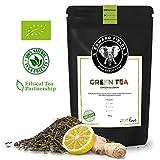 Edward Fields - Té Verde orgánico de alta calidad con Jengibre y Limón....