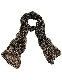 Toutacoo, City Black Leopard Print Scarf
