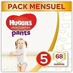 Huggies - Ultra Comfort - Culottes Bébé Unisexe - Taille 5 (12-17 kg) x68 Culottes