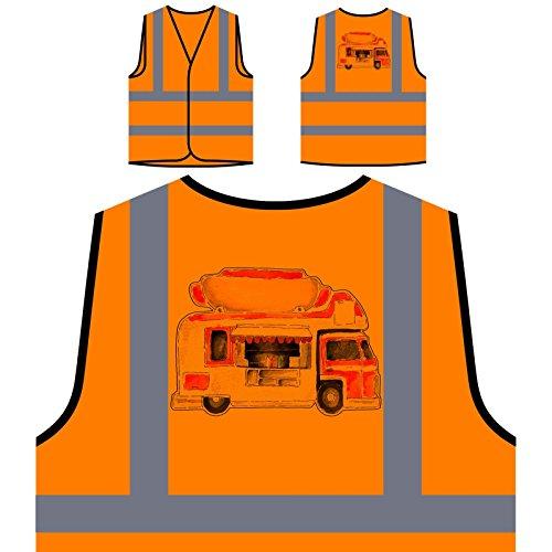 Hot Dog Von Vintage Personalisierte High Visibility Orange Sicherheitsjacke Weste p410vo -