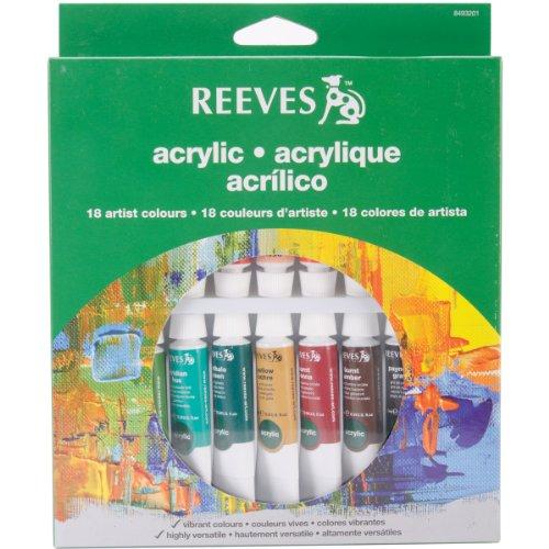 reeves-8493201-acrylfarbe-set-18-x-10-ml-tuben
