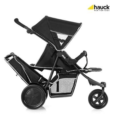 Hauck Freerider 3 ruedas Tandem Cochecito - Negro.