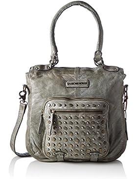 Taschendieb Damen Td0112g Henkeltasche, Grau (Grau), 11x35x34 cm
