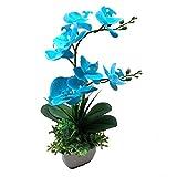 SCLOTHS Flores Artificiales Muebles Decoración Establecido Viven roombedroom Azul Orquídea Mariposa