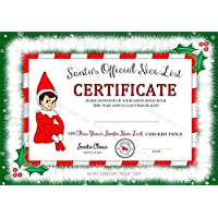 Accessory For Elf On The Shelf, Santa's Nice List Certificate, Christmas Gift