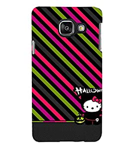 animated halloween case with slanting stripes 3D Hard Polycarbonate Designer Back Case Cover for Samsung Galaxy A3 (2016) :: Samsung Galaxy A3 A310F (2016) A310M A310FD A310Y