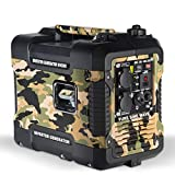 Böhmer-AG Camo Petrol Inverter Generator W4500i, 1.9 KW, Ultra Low Noise - UK