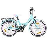 Galano 20 Zoll Kinderfahrrad Blossom Mädchenrad Jugendrad Cityrad, Farbe:Grün