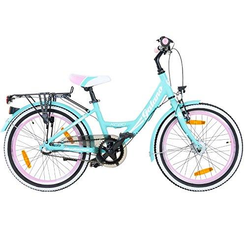 20 Zoll Kinderfahrrad Galano Blossom Mädchenrad Jugendrad Cityrad, Farbe:Grün