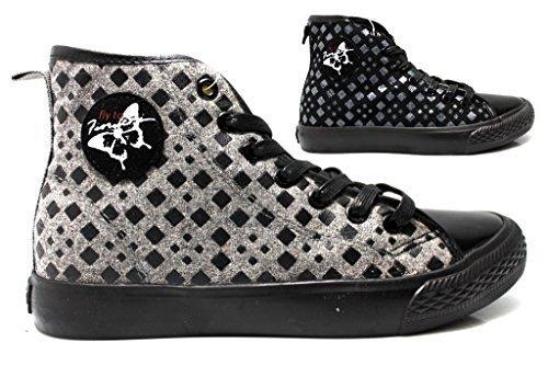 fiorucci-fdad019-negro-y-gris-mujer-zapatillas-de-deporte-botas-safari-calzado-comodo-gris-37