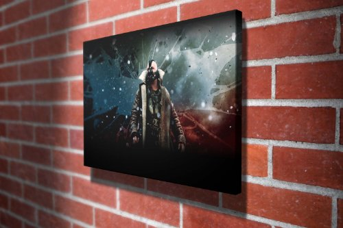 The Dark Knight Rises - Bane Hollywood Movie Gallery Framed Canvas Art Picture Print