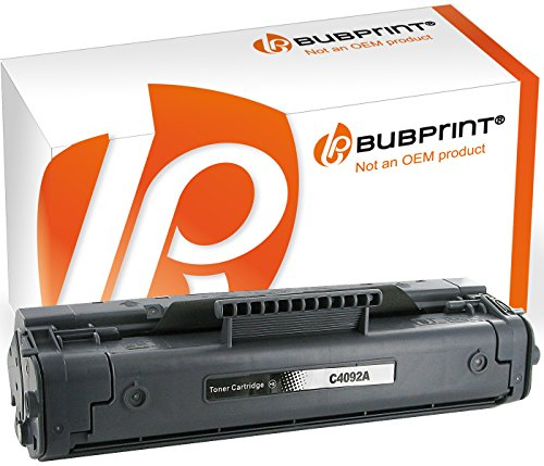 Bubprint Toner kompatibel für HP 92A C4092A für LaserJet 1100 1100A 1100A SE 1100A XI 1100SE 1100XI 3200 3200M 3200SE 3200XI 2500 Seiten Schwarz - Patrone Hp 92 Drucker