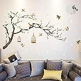 Anmain Albero Sticker Da Muro Fiore Adesivi Murali Uccello Wall Stickers Creativi Elegante Adesivi Da Parete Retro Decorazioni Murales Muraglia Diy Adesivo Per Pareti Sticker Decorativi Finestra