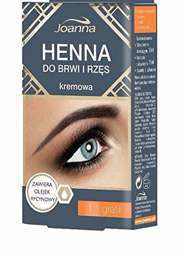JOANNA HENNA CREME GRAPHIT für Augenbrauen und Wimpern mit Rizinusöl 15 ml