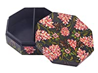 Store Indya Wooden Decorative Hand Painted Jewellery Box Storage Keepsake Trinket Multipurpose Organizer
