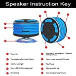 BassPal Shower Speaker, IPX7 Waterproof Portable Wireless Bluetooth 4.0 Speakers with Super Bass and HD Sound, Perfect Speaker for Beach, Pool, Kitchen & Home 10