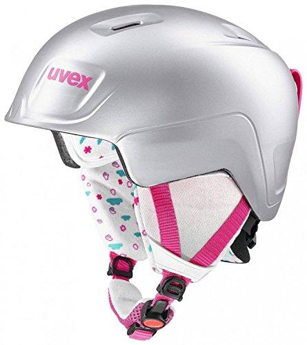 Uvex Kinder Manic Pro Skihelm, Titanium-pink mat, 51-55 cm