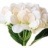 JUNGEN Bouquet Fleur Boule-de-neige Hortensia en Silk Plante Artificiel Fleur Créatif Accessoires Organisation Bonsai du Lait Déco DIY pour Fête Mariage Maison 3 PCS Riz