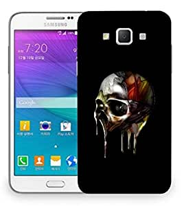 Snoogg Melting Skull Designer Protective Back Case Cover For Samsung Galaxy Grand Max G7200