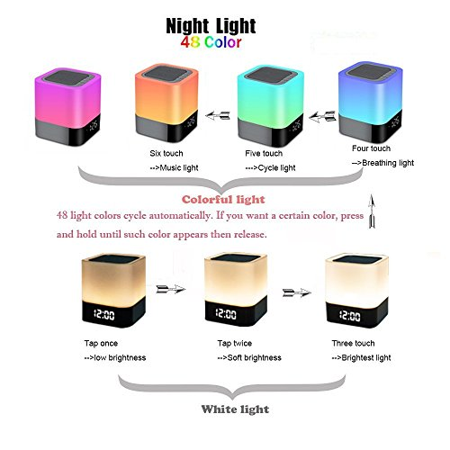 Touch-Control-Bedside-Lamp-with-Wireless-Bluetooth-Speaker-Portable-Smart-LED-Touch-Sensor-Table-Lamp-Dimmable-RGB-Multi-Color-Changing-Night-Light-All-in-1-Alarm-Clock-MP3-Player-Handsfree-Calls-Blue