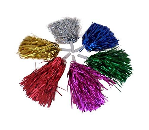 2 Stück Pompons Cheerleading Pompon Cheerleader Tanzwedel Puschel 1 Paar Pom Pon Farbe Rot