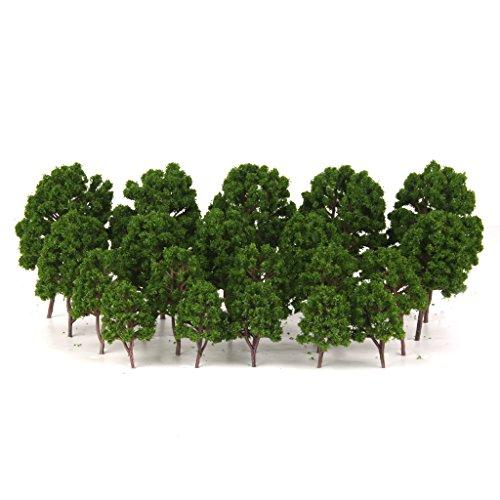 20pcs Modellbahn Bäume Landschaft Landschaft 1 / 75-200 Grün
