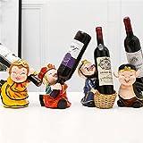 LL-COEUR Viaggio in Occidente Portabottiglie da Vino Rack Artigianato Cremagliera del Vino Decorazione Scaffale per Bottiglia