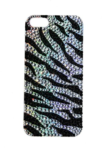 lux-accessori-iphone-5-5s-con-strass-motivo-zebrato-colore-nero-in-custodia