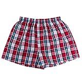 DADAO Lower East Boxer Uomo American Style,I Pantaloni A Quadri Sono Larghi E Comodi-5Pcs,D,XXL