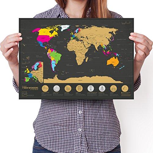 Mapa rascar Siete Maravillas Mundo - A3 Diario Viaje