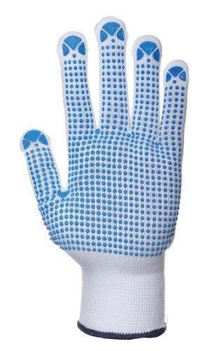 Brand New. Portwest Polka Dot Gloves EN420 & EN388 Certification Large Blue Large Ref A110LGE [Pack 12]