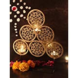 TIED RIBBONS Handmade Metal Tealight Candle Holder For Diwali Decor And Corporate Diwali Gifting(30 Cm X 20 Cm, Metal)